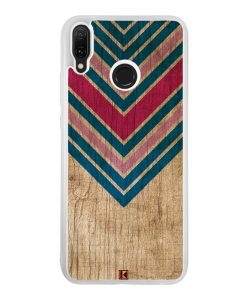 Coque Huawei Y9 2019 – Chevron on wood