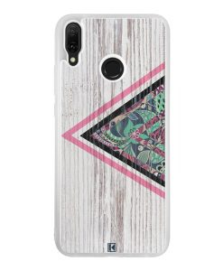 Coque Huawei Y9 2019 – Triangle on white wood