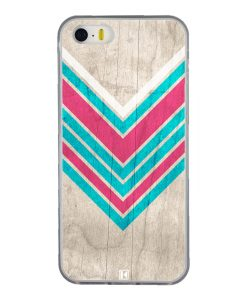 Coque iPhone 5/5s/SE – Chevron on white wood