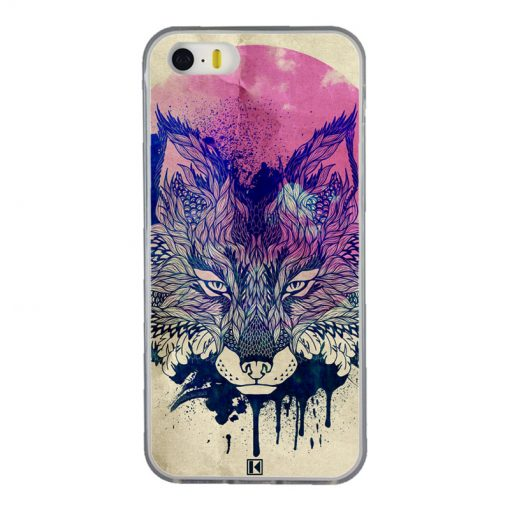 Coque iPhone 5/5s/SE – Fox face