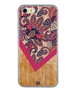 Coque iPhone 5/5s/SE – Graphic wood rouge
