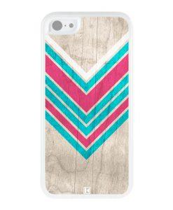 Coque iPhone 5c – Chevron on white wood