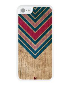 Coque iPhone 5c – Chevron on wood