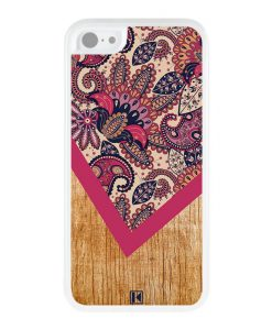 Coque iPhone 5c – Graphic wood rouge
