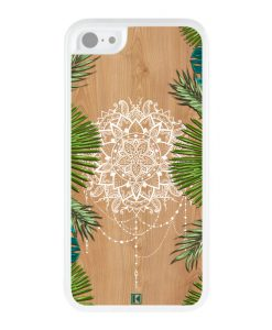 Coque iPhone 5c – Tropical wood mandala