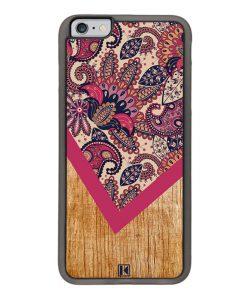 Coque iPhone 6 Plus / 6s Plus – Graphic wood rouge