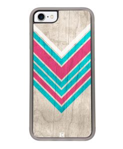 Coque iPhone 7 / 8 – Chevron on white wood