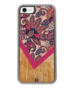 Coque iPhone 7 / 8 – Graphic wood rouge