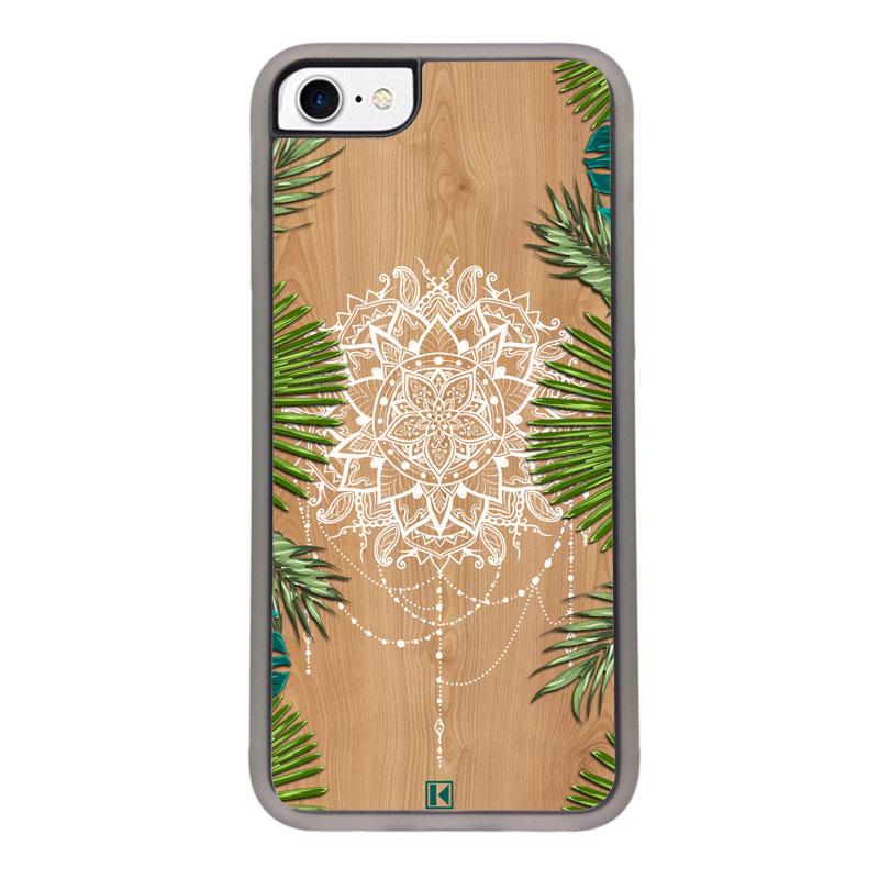 Coque iPhone 7 / 8 – Tropical wood mandala