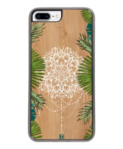 Coque iPhone 7 Plus / 8 Plus – Tropical wood mandala