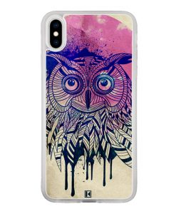 Coque iPhone X / Xs – Owl face