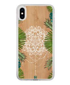 Coque iPhone X / Xs – Tropical wood mandala