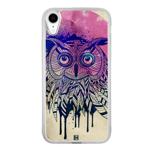Coque iPhone Xr – Owl face