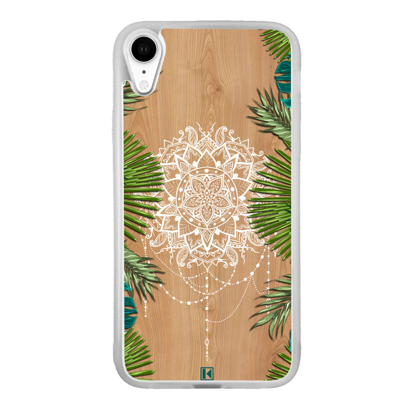 theklips coque iphone xr tropical wood mandala