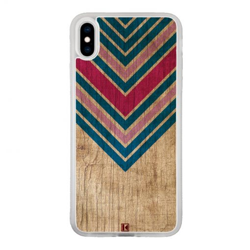 Coque iPhone Xs Max – Chevron on wood