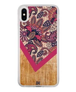 Coque iPhone Xs Max – Graphic wood rouge