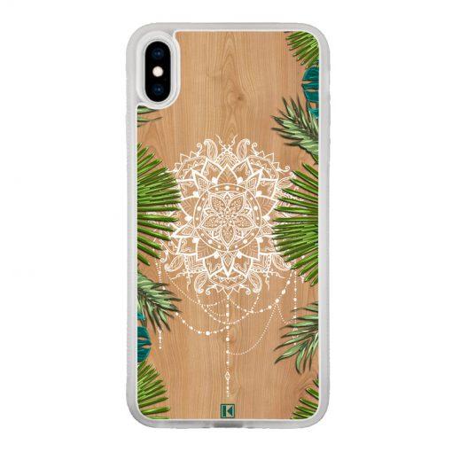 Coque iPhone Xs Max – Tropical wood mandala