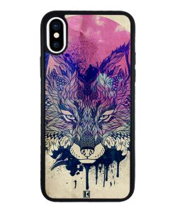 theklips-coque-iphone-xs-noir-fox-face