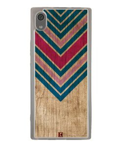 Coque Xperia XA1 – Chevron on wood