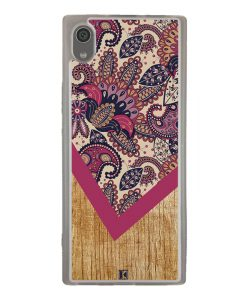Coque Xperia XA1 – Graphic wood rouge