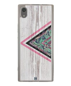 Coque Xperia XA1 – Triangle on white wood