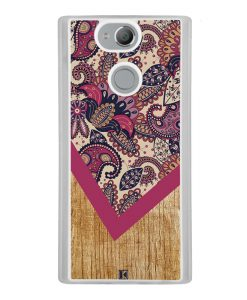 Coque Xperia XA2 – Graphic wood rouge