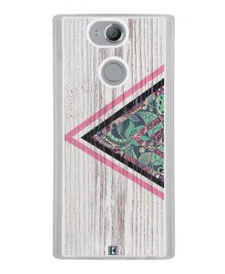 Coque Xperia XA2 – Triangle on white wood
