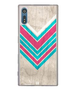 Coque Xperia XZ – Chevron on white wood