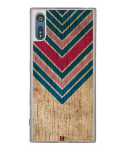 Coque Xperia XZ – Chevron on wood