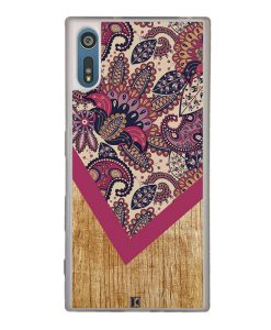Coque Xperia XZ – Graphic wood rouge