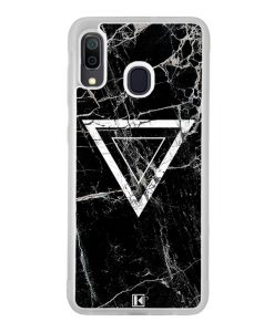 Coque Galaxy A30 – Black marble