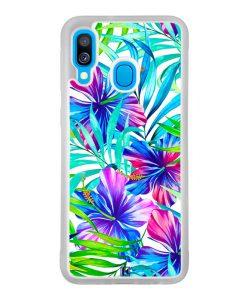 Coque Galaxy A40 – Exotic flowers