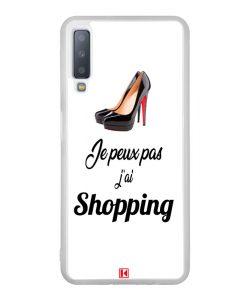 Coque Galaxy A7 2018 – Je peux pas j'ai Shopping