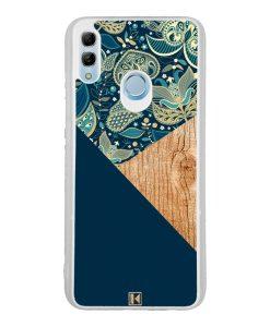 Coque Honor 10 Lite – Graphic wood bleu