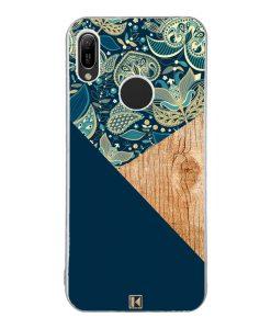 Coque Huawei Y6 2019 – Graphic wood bleu