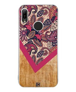 Coque Huawei Y6 2019 – Graphic wood rouge