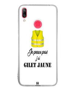 Coque Huawei Y7 2019 – Je peux pas j'ai Gilet jaune