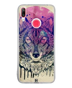 Coque Huawei Y7 2019 – Wolf Face