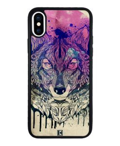 theklips-coque-iphone-xs-rubber-noir-wolf-face