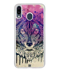 Coque Galaxy M20 – Wolf Face