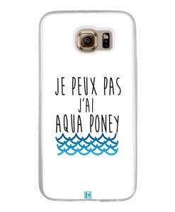 Coque Galaxy S6 – Je peux pas j'ai aqua poney