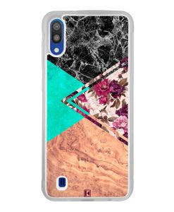 Coque Galaxy M10 – Floral marble