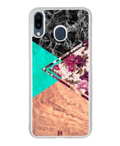 Coque Galaxy M20 – Floral marble