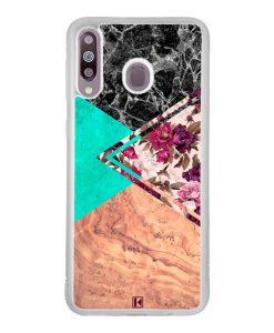 Coque Galaxy M30 – Floral marble