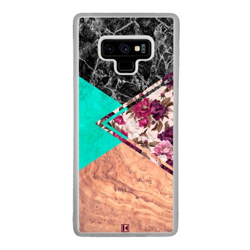 Coque Galaxy Note 9 – Floral marble