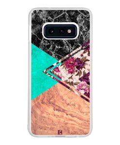 Coque Galaxy S10e – Floral marble