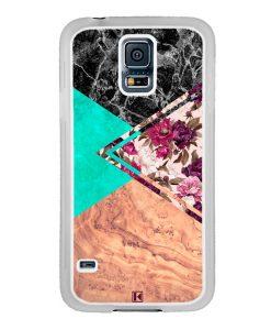 Coque Galaxy S5 – Floral marble
