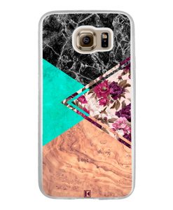 Coque Galaxy S6 – Floral marble