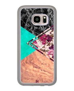 Coque Galaxy S7 – Floral marble