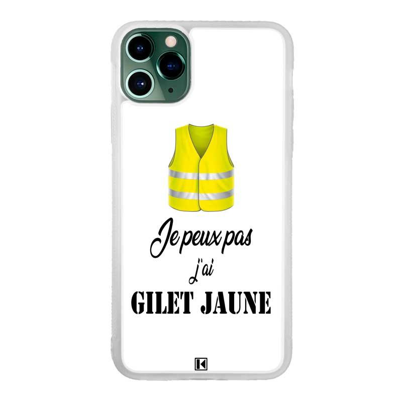 theklips coque iphone 11 pro max je peux pas jai gilet jaune